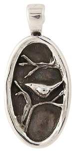 Other Nature Pendant - Sterling Silver Perching Bird In Tree