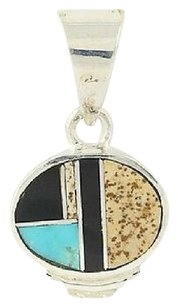 Other Turquoise Onyx Jasper Pendant - Sterling Silver Womens