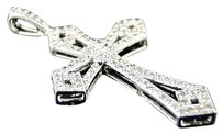 10k,Mens,Ladies,Mini,Genuine,Diamond,Cross,Charm,Pendant,34,Ct