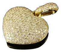 Lady,Yellow,Gold,Diamond,Puffed,Heart,Pendant,1.20,Ct