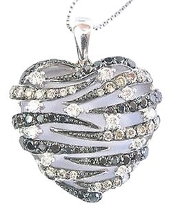 Fine,Round,Cut,Multi,Color,Diamond,Heart,Pendant,Necklace,White,Gold,1.00ct,18