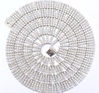 Other 18kt Round Cut Diamond Riviera White Gold Necklace 38 105ct