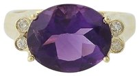 Amethyst Diamond Ring - 14k Yellow Gold Womens 4.33ctw