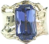 Fine,Gem,Tanzanite,Yellow,Gold,Anniversary,Solitaire,Ring,5.43ct,