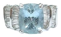 Fine,Gem,Aquamarine,Diamond,White,Gold,Anniversary,Jewelry,Ring,4.85ct