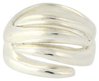 Other Chunky Scalloped Statement Ring - Sterling Silver 925 Italian Band