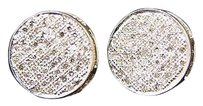 Mens,Or,Ladies,Round,Pave,Diamond,Stud,Earrings,Xl,12mm
