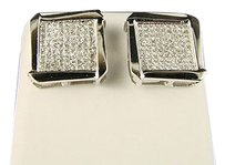 Mensladies,14mm,Bezel,Pave,Diamond,Stud,Earrings,.65