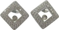 Other 18kt,Square,Floating,Diamond,Pave,Earrings,Wg,.60ct