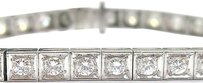 Platinum,Irid,Vintage,Round,Cut,Diamond,Tennis,Bracelet,4.15ct
