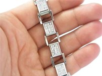 Other Fine Mens Invisible Diamond Bracelet Wg 14kt 8.40ct