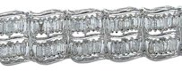 18kt,Baguette,Diamond,Tennis,Wide,White,Gold,Bracelet,10.16ct,6.75,I-k,Si2-i1