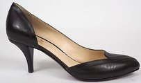 Other Ojour Patent Pointed Dorsay Kitten Heels Dark Brown Pumps