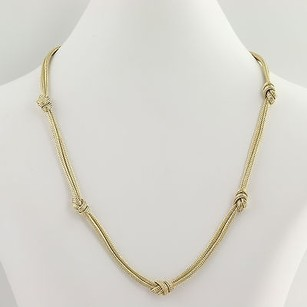 Other Knotted Double Wheat Chain Necklace 34 - 14k Yellow Gold Womens