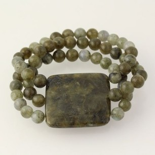 Other Labradorite Bracelet - Stretch Green Beads Womens Fashion Accessory