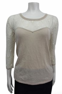 Other Chiffon Lace Detail Shae 34 Sleeve Sweater