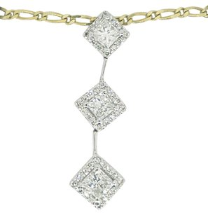 Other Ladies 14k Yellow Gold 1.10ct Diamond Necklace