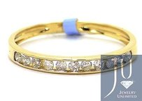 Ladies 14k Yellow Gold Mm Diamond Engagement Wedding Band Fashion Ring .25ct