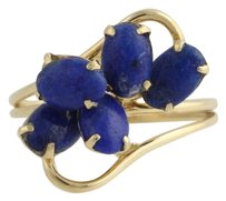 Other Lapis Bypass Cocktail Ring - 14k Yellow Gold Womens 12 Fine Estate