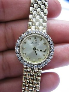 Other Lucien Piccard Circular Diamond Wristwatch .96ct Yellow Gold 14kt