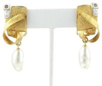 Other Marco Borghesi 18k Yellow Gold Diamond Baroque Pearls Drop Dangle Earrings