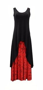Black/Red Maxi Dress by Matti Mamane Black Red
