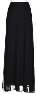 T Tadashi Womens Solid Maxi Skirt Black