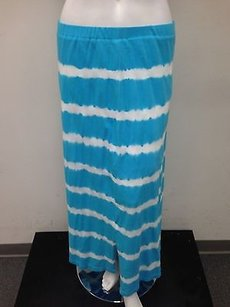 Bylyse Cotton Stretch Maxi Skirt Blue
