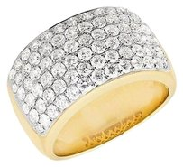 Mens 10k Yellow Gold Pave Vs2 Genuine Diamond Engagement Pinky Ring Band 4.5ct