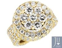 Mens 14k Yellow Gold Lollipop Dome Round Genuine Diamond Pinky Ring 10ct.