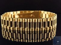 Mens 18k Yellow Gold Solid Link Designer Inch Presidential Bracelet 16 Mm