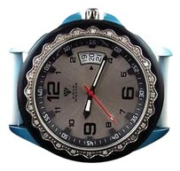 Mens Aqua Master Sports Blue White Two Tone Diamond Watch 43mm W337 0.25 Ct