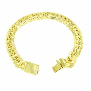 Other Mens Bracelet And Chains Miami Cuban 14k Yellow Gold Finish Inch Mm