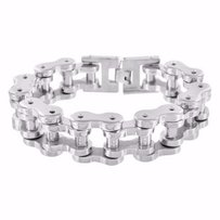 Mens Bracelet Motorcycle Bike Chain Stainless Steel White Heavy Mm Thick 9.5