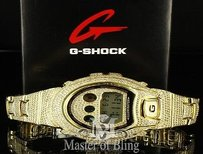 Mens G Shock Watch Dw6900 Full Iced Out Gshock Lab Diamond Stainless Steel Gold