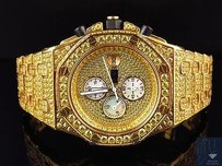 Mens Jewelry Unlimited Jojino Joe Rodeo Canary Simulated Diamond Watch 43mm