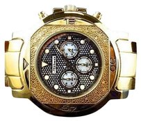 Other Mens Jojojojino Big Face Stainless Steel 55 Mm 0.25 Ct Diamond Watch Mj-1222