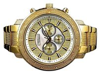 Other Mens Jojojojino Big Face Stainless Steel Mm 0.25 Ct Diamond Watch Mj-1211