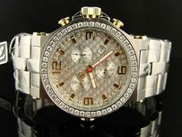 Mens Jojojojino Joe Rodeo Phantom Stainless Steel 3.25 Ct Jptm40 Diamond Watch