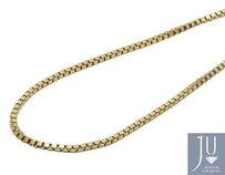 Mens Real 10k Yellow Gold Hollow Box Chain Necklace Mm 18-26 Inches