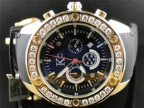 Mens Techno Com Kc Joe Rodeo Master Genuine Clear Wwbl Diamond Watch 2.85 Ct