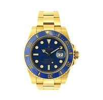 Menss Rolex Submariner Gold Watch - Model 116618