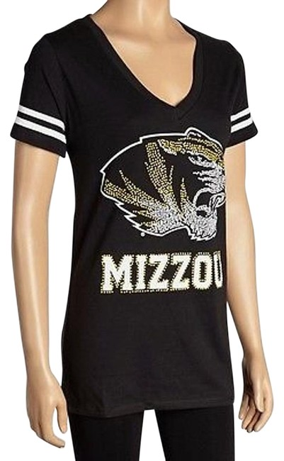 Missouri Tigers E5 College Black V-neck Team T-shirt 190920c-rm #15011392 - Tops low-cost
