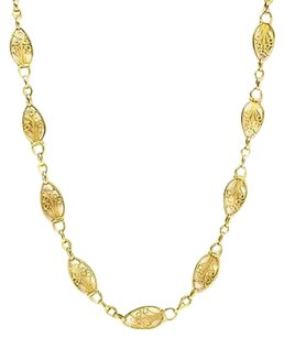 Necklace 18k Yellow Gold Byzantine Design 28.9 Grams Inches Womens