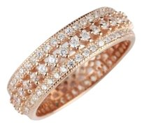 New High Quality CZ Stones & .925 Stamped Sterling Silver Eternity Band Ring