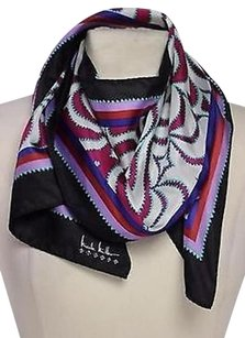 Other Nicole Miller Studio Womens Pink White Printed Scarf 53x11 One Silk Silk