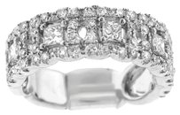 NWT 14K WHITE GOLD 1.30CT DIAMOND EMBELLISHED BAND