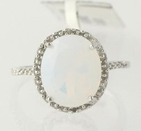 Other Opalite Diamond Ring - Sterling Silver Womens 3.84ctw