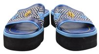 Other Bcbg Maxazria Jeans Womens Woven Wedges 8m Open Toe Blue Sandals