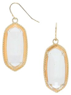 Other Oval Shape Clear Drop Earrings